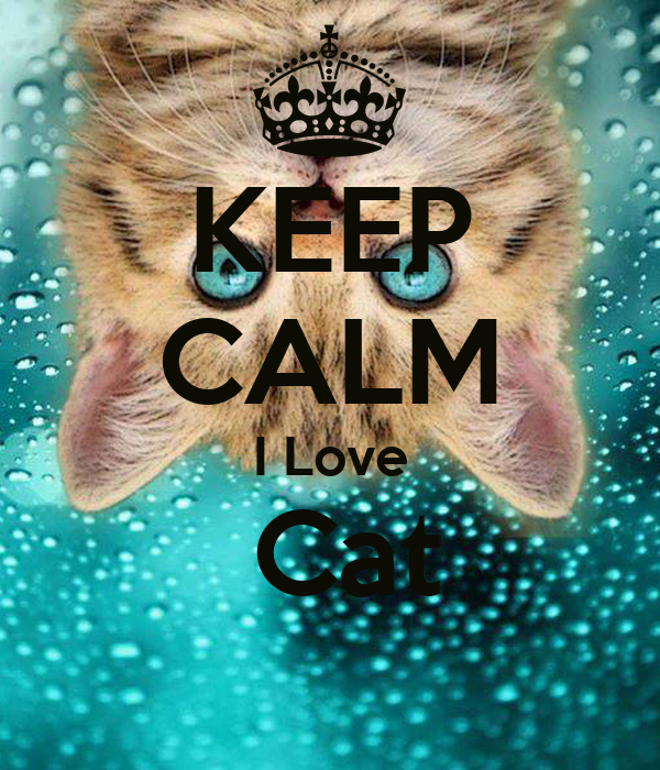 KEEP CALM I Love  Cat
