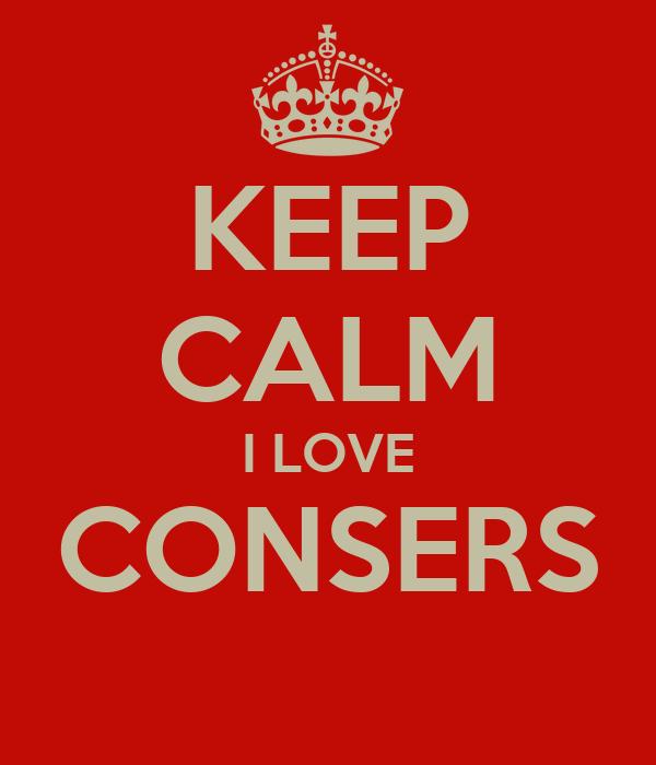 KEEP CALM I LOVE CONSERS