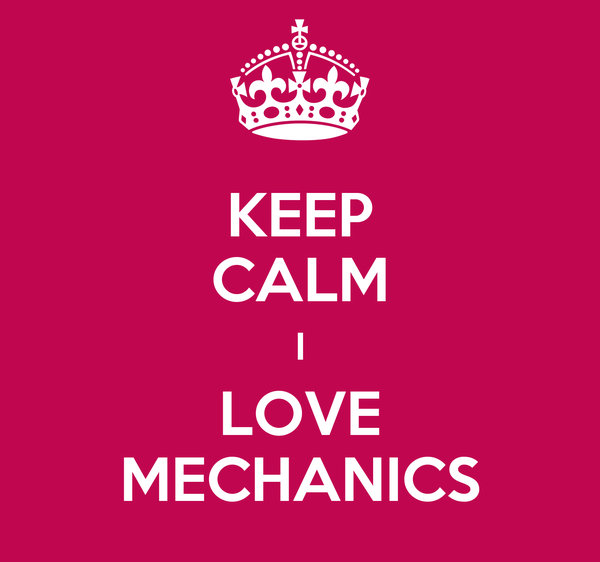 KEEP CALM I LOVE MECHANICS