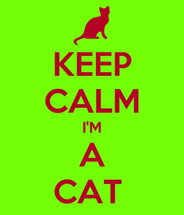 KEEP CALM I'M A CAT