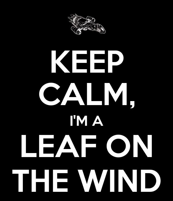 KEEP CALM, I'M A LEAF ON THE WIND
