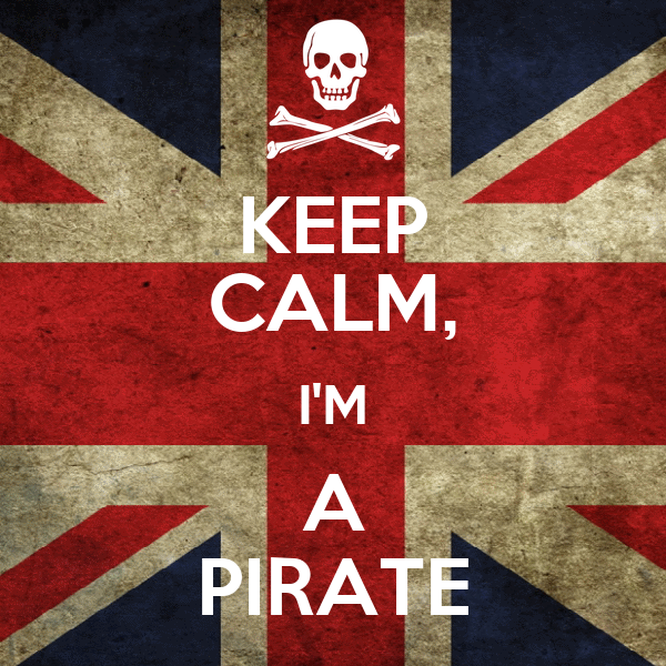 KEEP CALM, I'M A PIRATE