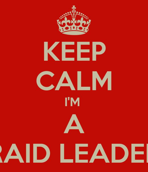 KEEP CALM I'M  A RAID LEADER