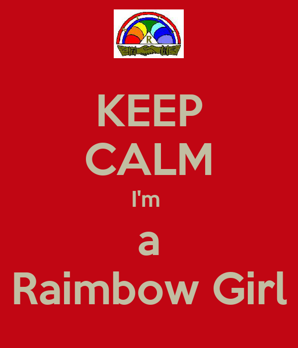 KEEP CALM I'm  a Raimbow Girl
