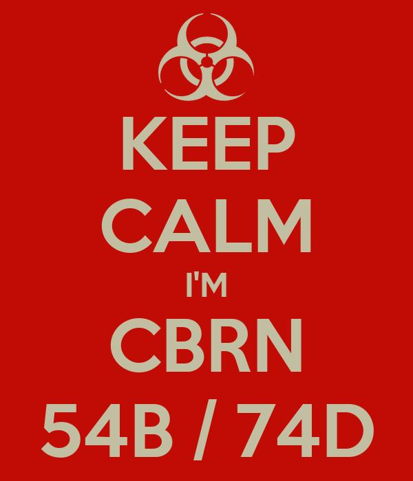 KEEP CALM I'M CBRN 54B / 74D