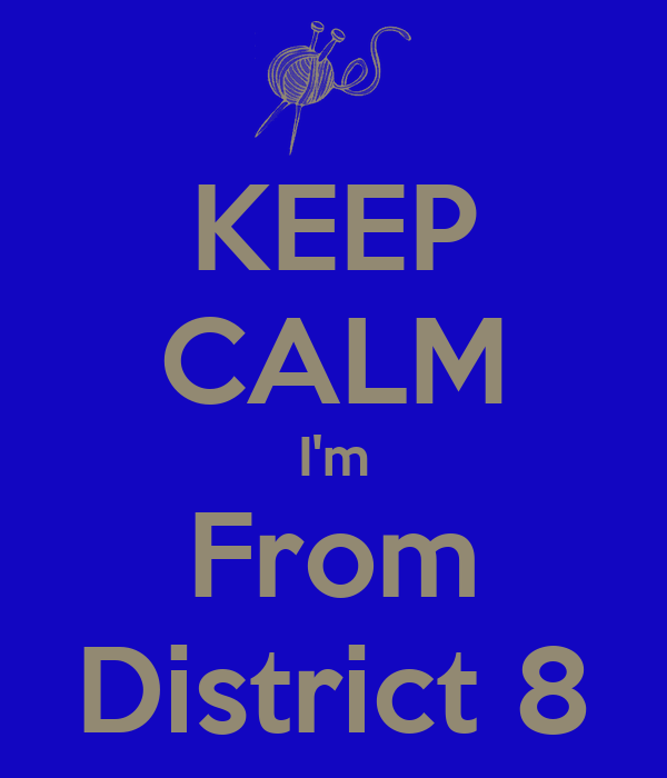 KEEP CALM I'm From District 8