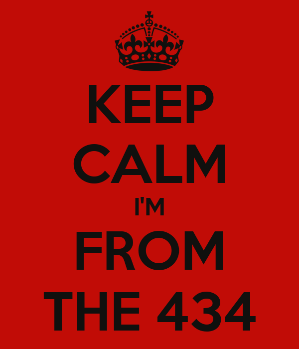 KEEP CALM I'M FROM THE 434