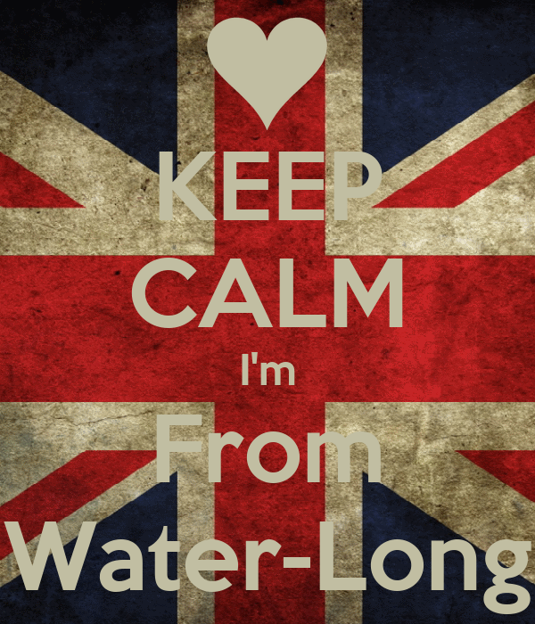 KEEP CALM I'm From Water-Long