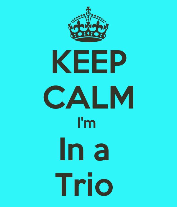 KEEP CALM I'm  In a  Trio