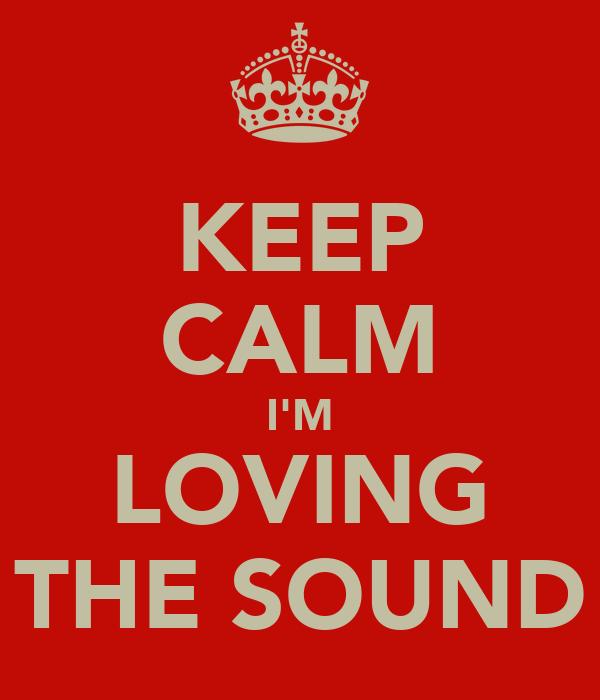 KEEP CALM I'M LOVING THE SOUND