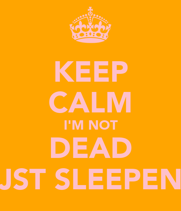 KEEP CALM I'M NOT DEAD JST SLEEPEN