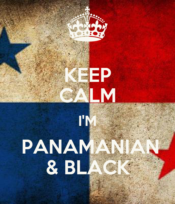 KEEP CALM I'M  PANAMANIAN & BLACK