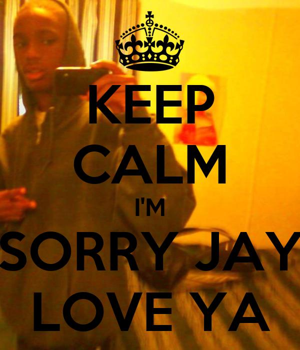 KEEP CALM I'M SORRY JAY LOVE YA