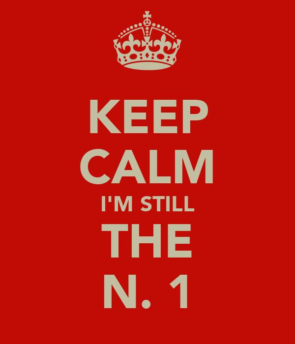 KEEP CALM I'M STILL THE N. 1