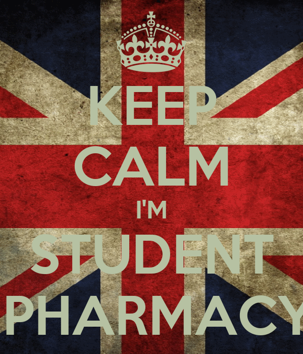 KEEP CALM I'M STUDENT  PHARMACY