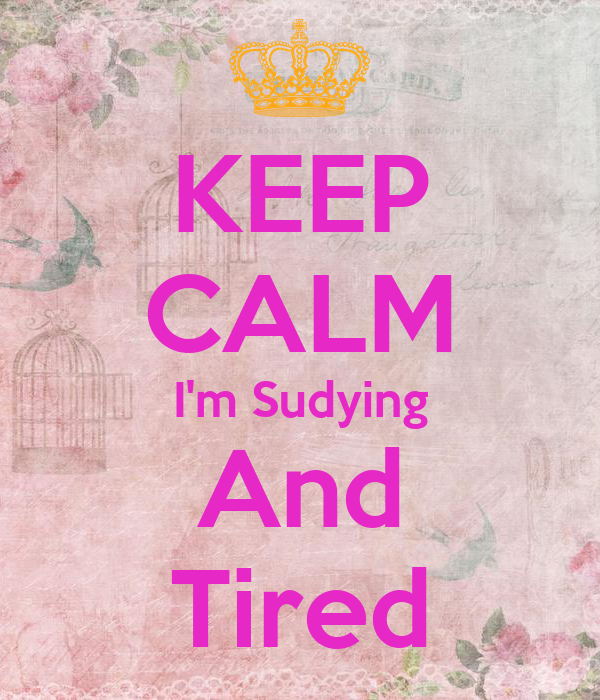 KEEP CALM I'm Sudying And Tired