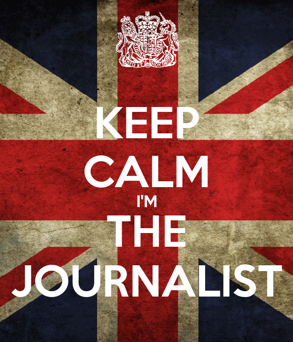 KEEP CALM I'M THE JOURNALIST