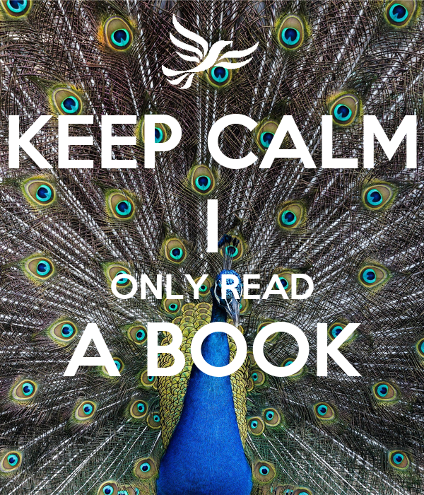 KEEP CALM I ONLY READ A BOOK