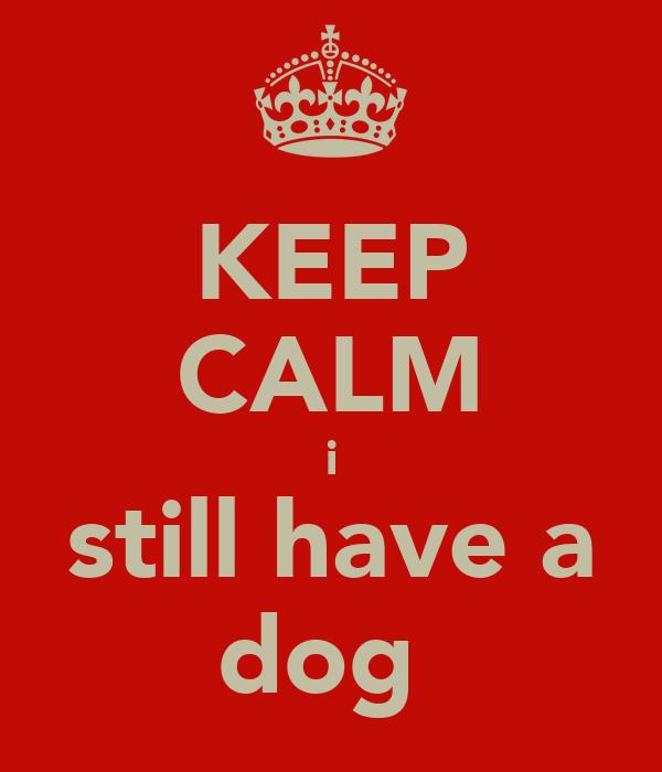 KEEP CALM i still have a dog