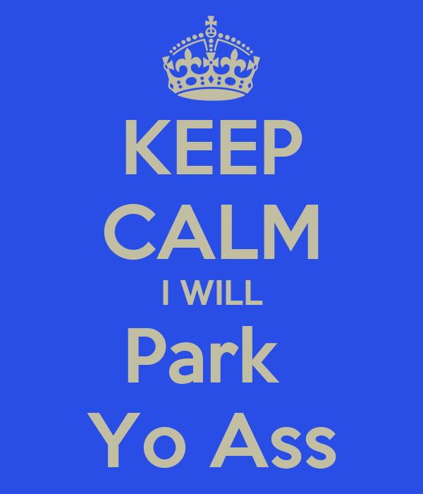 KEEP CALM I WILL Park  Yo Ass