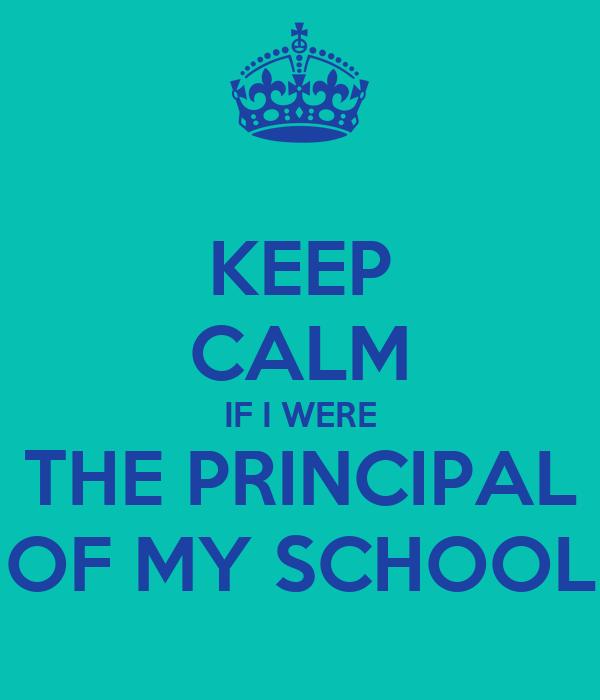 principal of my school