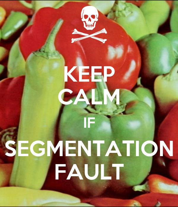 KEEP CALM IF SEGMENTATION FAULT