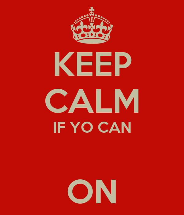 KEEP CALM IF YO CAN  ON