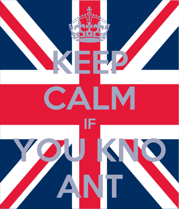 KEEP CALM IF YOU KNO ANT