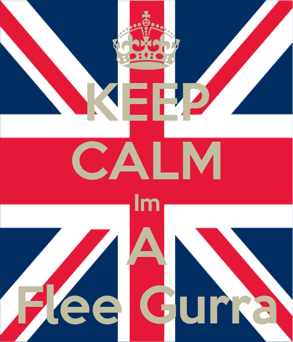 KEEP CALM Im A Flee Gurra