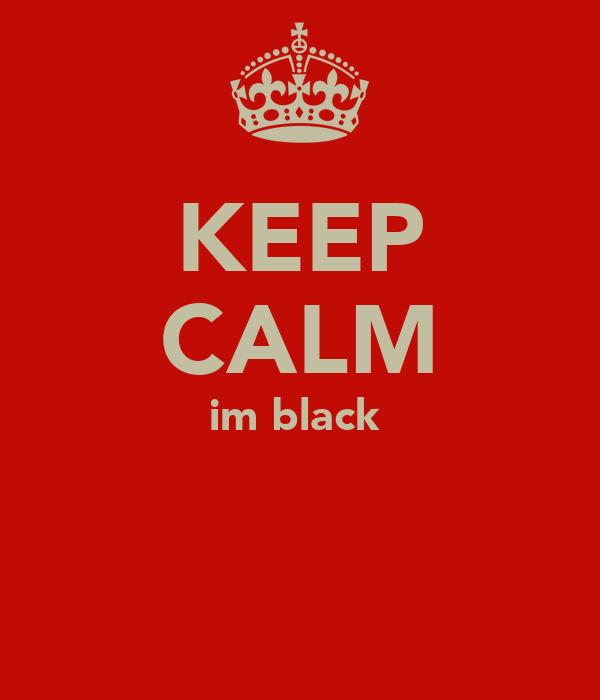 KEEP CALM im black