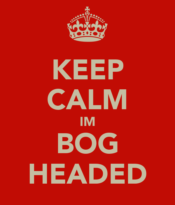 KEEP CALM IM BOG HEADED