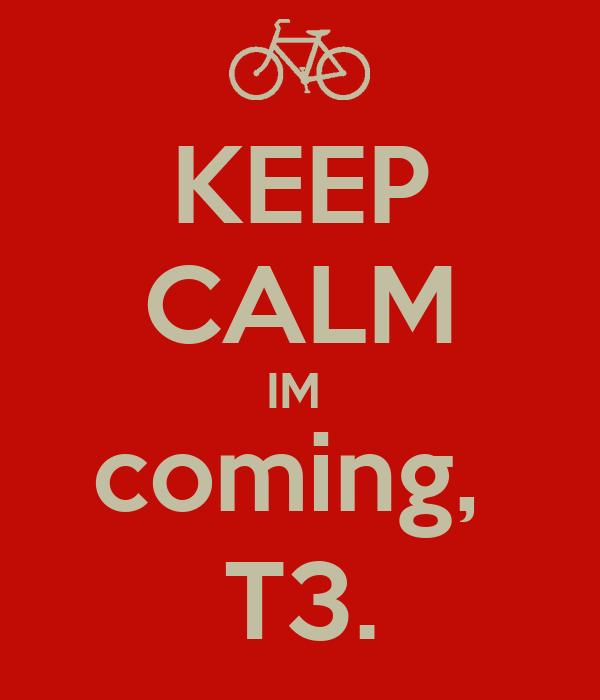 KEEP CALM IM  coming,  T3.