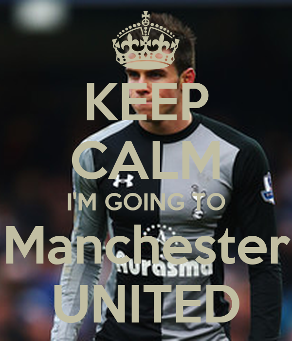 KEEP CALM I'M GOING TO  Manchester  UNITED