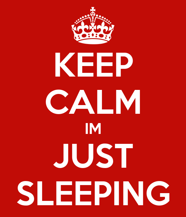 KEEP CALM IM JUST SLEEPING