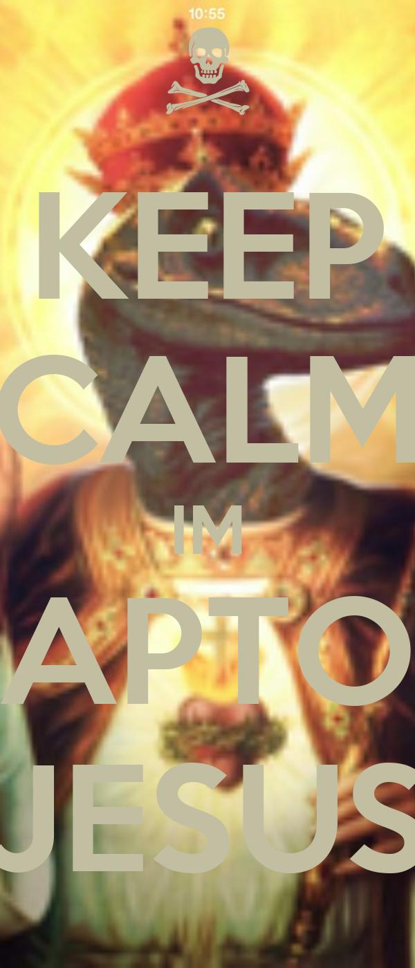 keep calm im raptor jesus poster skyy keep calm o matic