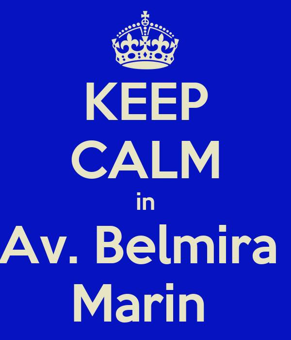 KEEP CALM in Av. Belmira  Marin