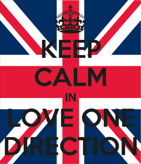 KEEP CALM IN LOVE ONE DIRECTION
