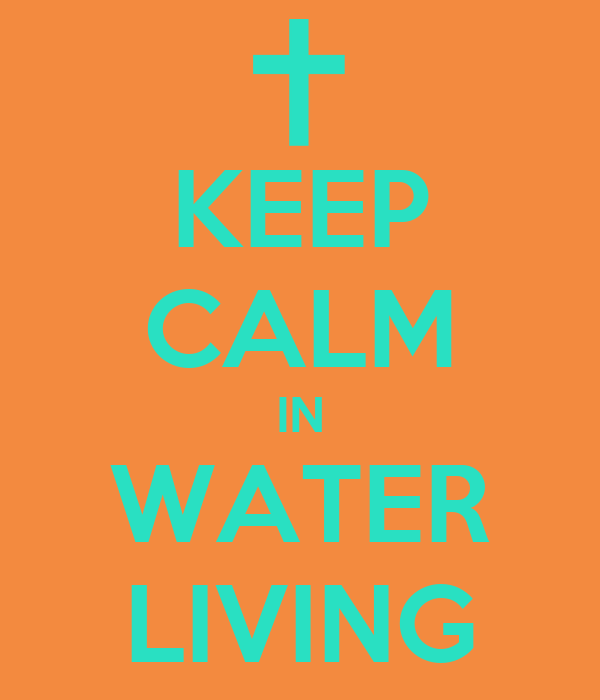 KEEP CALM IN WATER LIVING