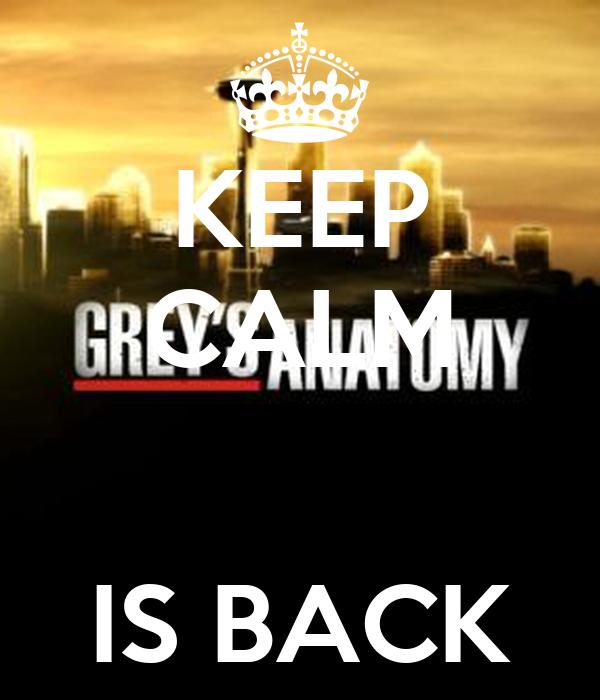 KEEP CALM   IS BACK