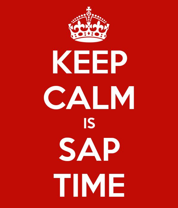 KEEP CALM IS SAP TIME