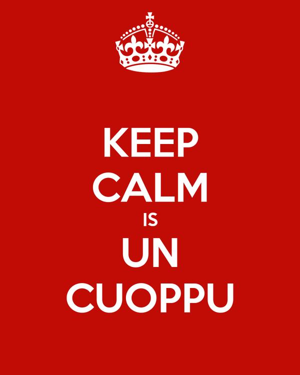 KEEP CALM IS UN CUOPPU