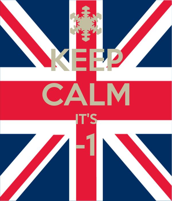 KEEP CALM IT'S -1