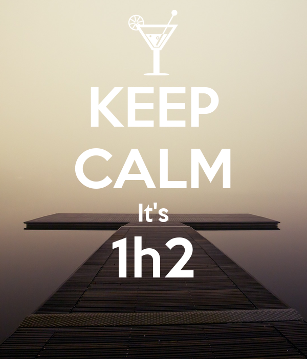 KEEP CALM It's 1h2