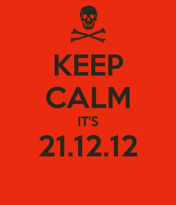 KEEP CALM IT'S 21.12.12