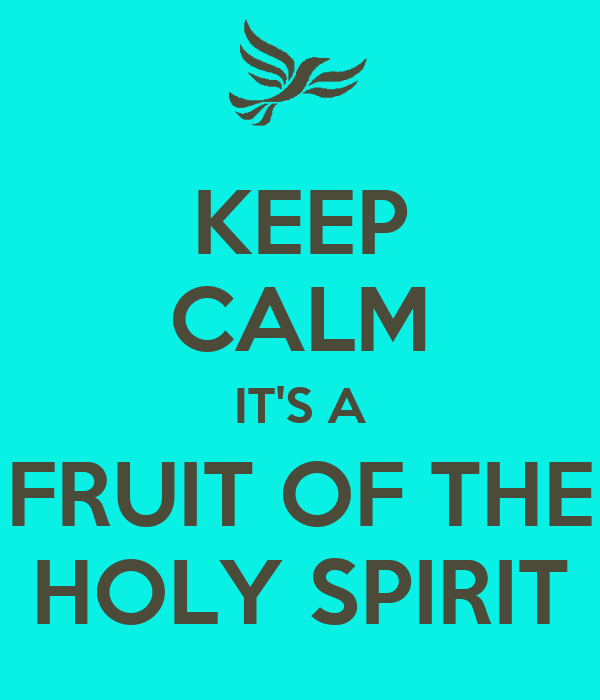 KEEP CALM IT'S A FRUIT OF THE HOLY SPIRIT