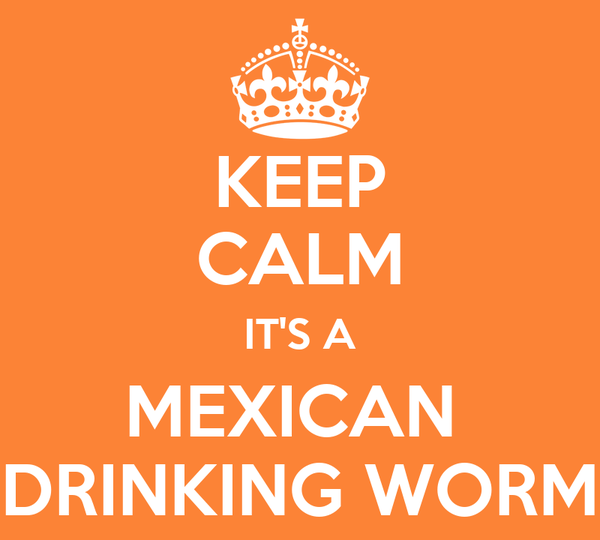 KEEP CALM IT'S A MEXICAN  DRINKING WORM