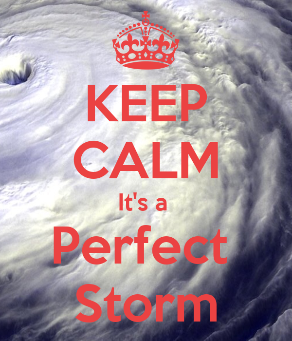 KEEP CALM It's a  Perfect  Storm