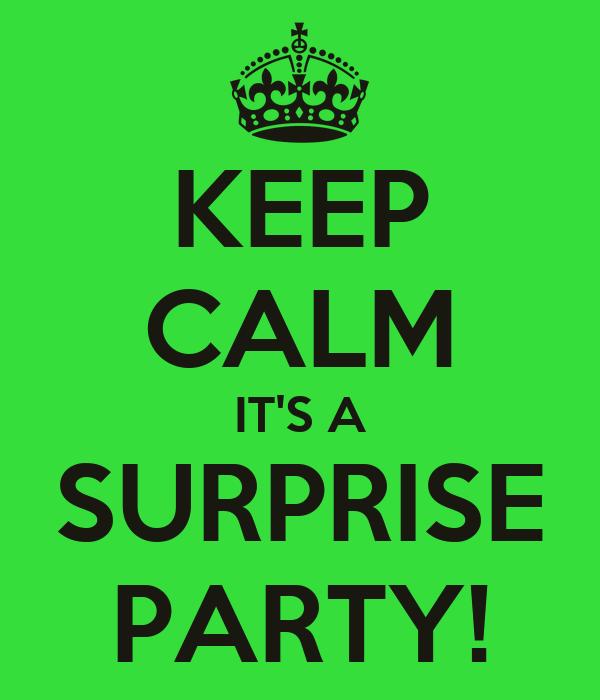 KEEP CALM IT'S A SURPRISE PARTY!