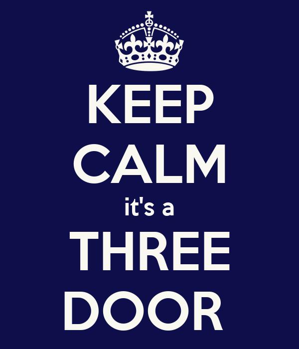 KEEP CALM it's a THREE DOOR