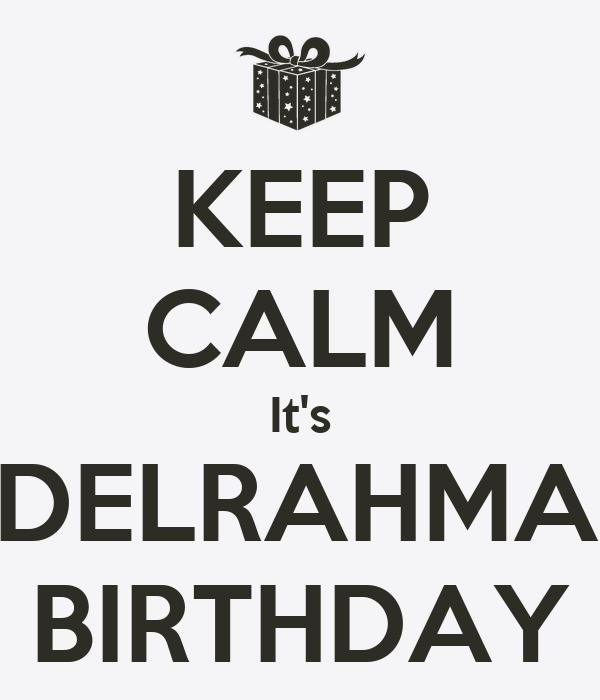 KEEP CALM It's ABDELRAHMAN'S BIRTHDAY